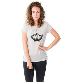 super.natural Printed Koszulka Kobiety, light grey melange/millitaryunconventional